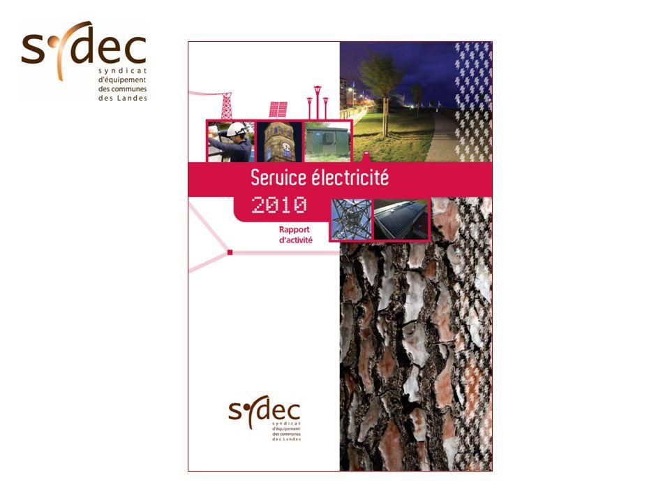 Distribution publique dénergie électrique Sécurisation des lieux de vie Contrat de service public Etat / ERDF signé en octobre 2005 Prise en charge par le SYDEC de 52 chantiers (FACE fonds spéciaux).