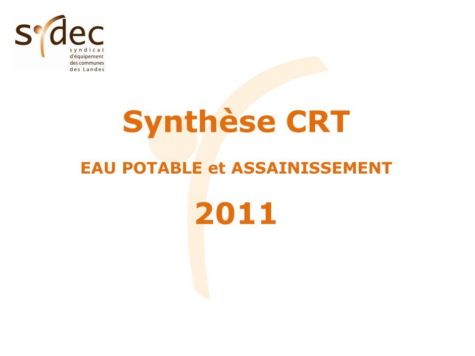 Synthèse CRT EAU POTABLE et ASSAINISSEMENT 2011