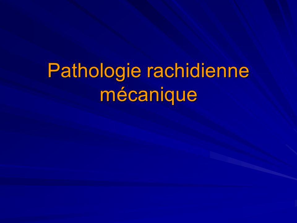 Rachis: Rappels 3 segments: C7-D12-L5 3 mobilités: Cervicale/ Dorsale / Lombaire 3 courbures 3 systèmes anatomiques –Antérieur: colonne discosomatique –Moyenne: canal rachidien –Postérieure: arc postérieur