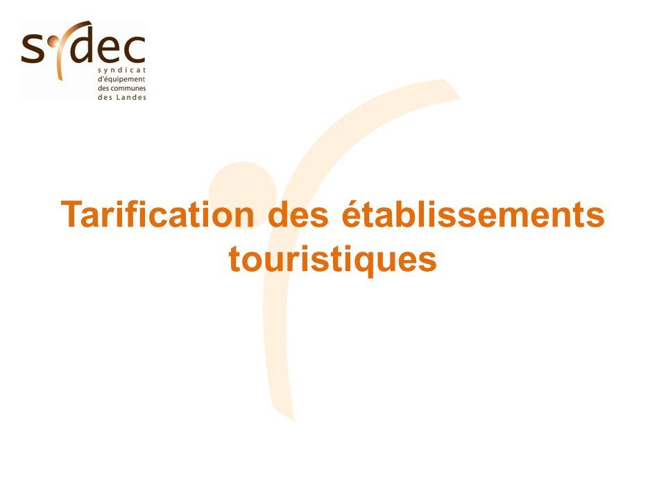 Tarification des établissements touristiques