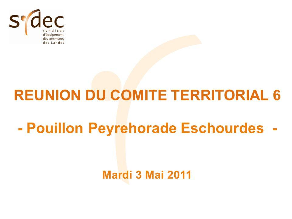 REUNION DU COMITE TERRITORIAL 6 - Pouillon Peyrehorade Eschourdes - Mardi 3 Mai 2011