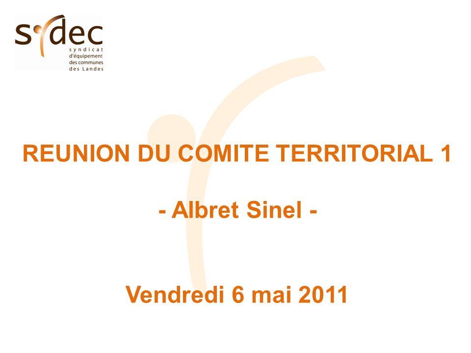 REUNION DU COMITE TERRITORIAL 1 - Albret Sinel - Vendredi 6 mai 2011