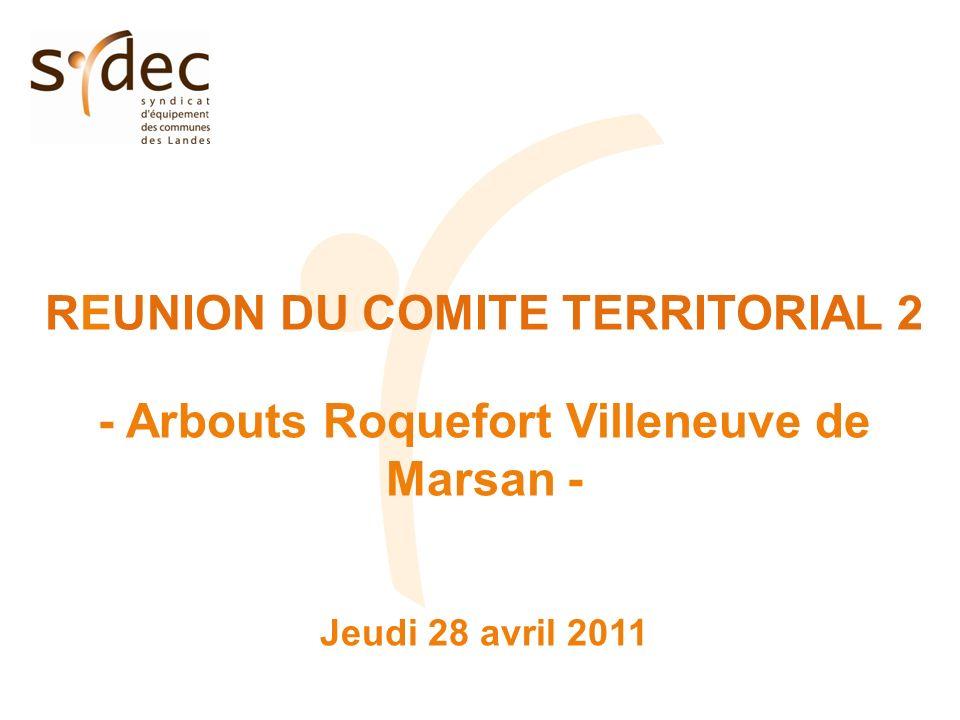 REUNION DU COMITE TERRITORIAL 2 - Arbouts Roquefort Villeneuve de Marsan - Jeudi 28 avril 2011