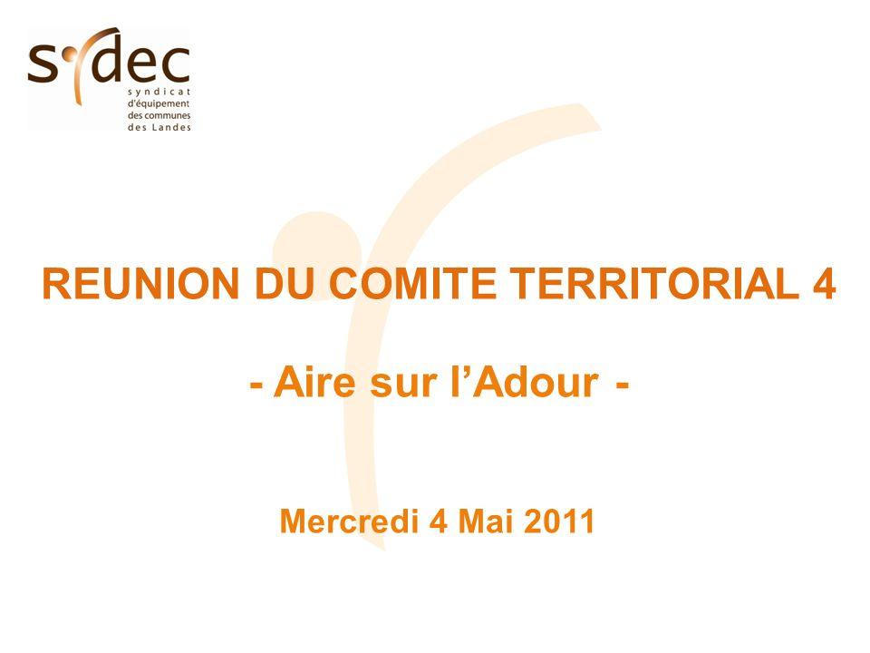 REUNION DU COMITE TERRITORIAL 4 - Aire sur lAdour - Mercredi 4 Mai 2011