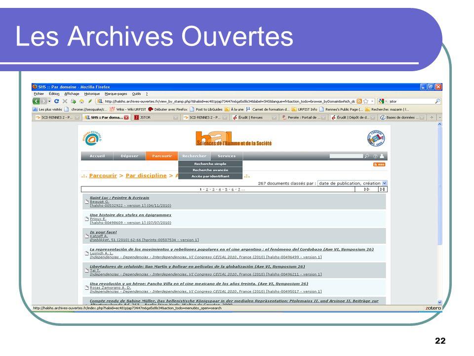 22 Les Archives Ouvertes