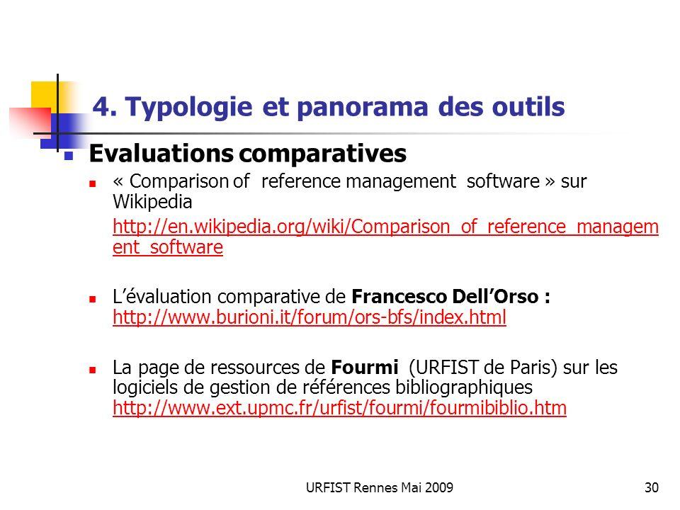 URFIST Rennes Mai 200930 4.