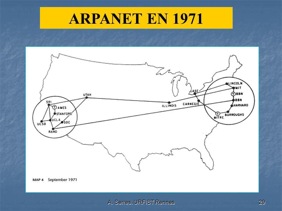 A. Serres. URFIST Rennes29 ARPANET EN 1971