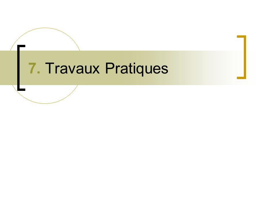 7. Travaux Pratiques