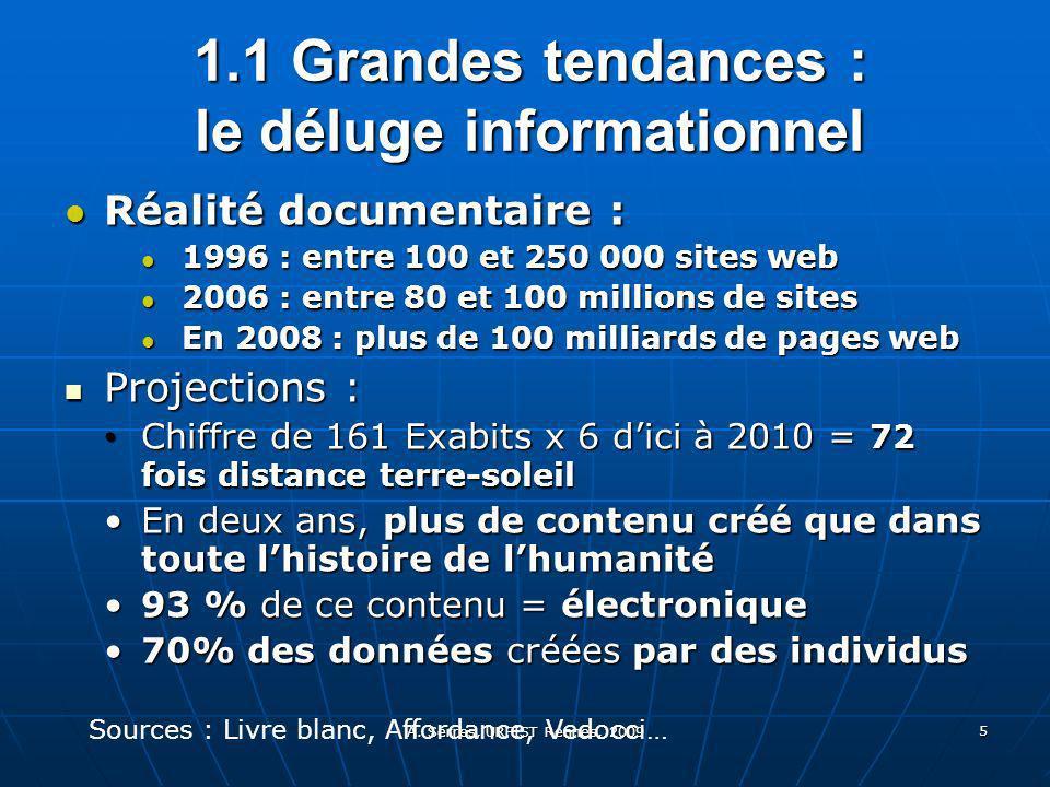 A. Serres, URFIST Rennes, 2009 5 Réalité documentaire : Réalité documentaire : 1996 : entre 100 et 250 000 sites web 1996 : entre 100 et 250 000 sites