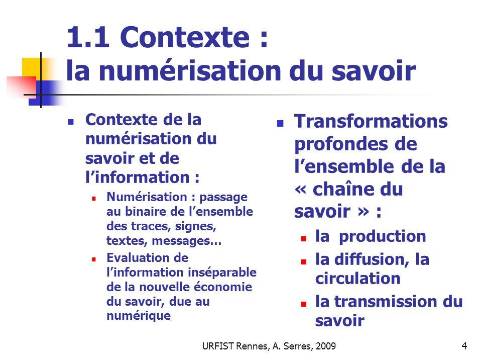 URFIST Rennes, A.Serres, 200945 5.2 Evaluer : pour quels objectifs .
