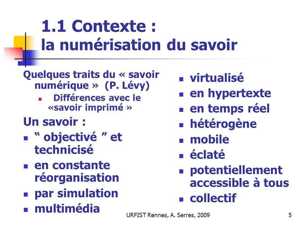 URFIST Rennes, A.Serres, 200946 5.3 Quest-ce qui est évalué .