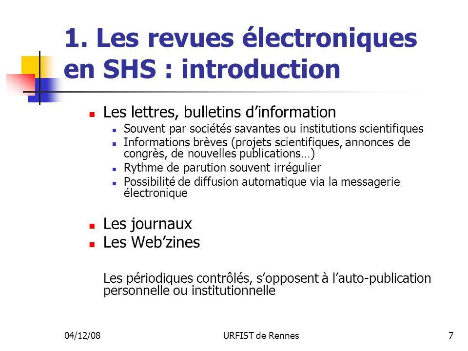 04/12/08URFIST de Rennes38 4.Loffre éditoriale : panorama général H.