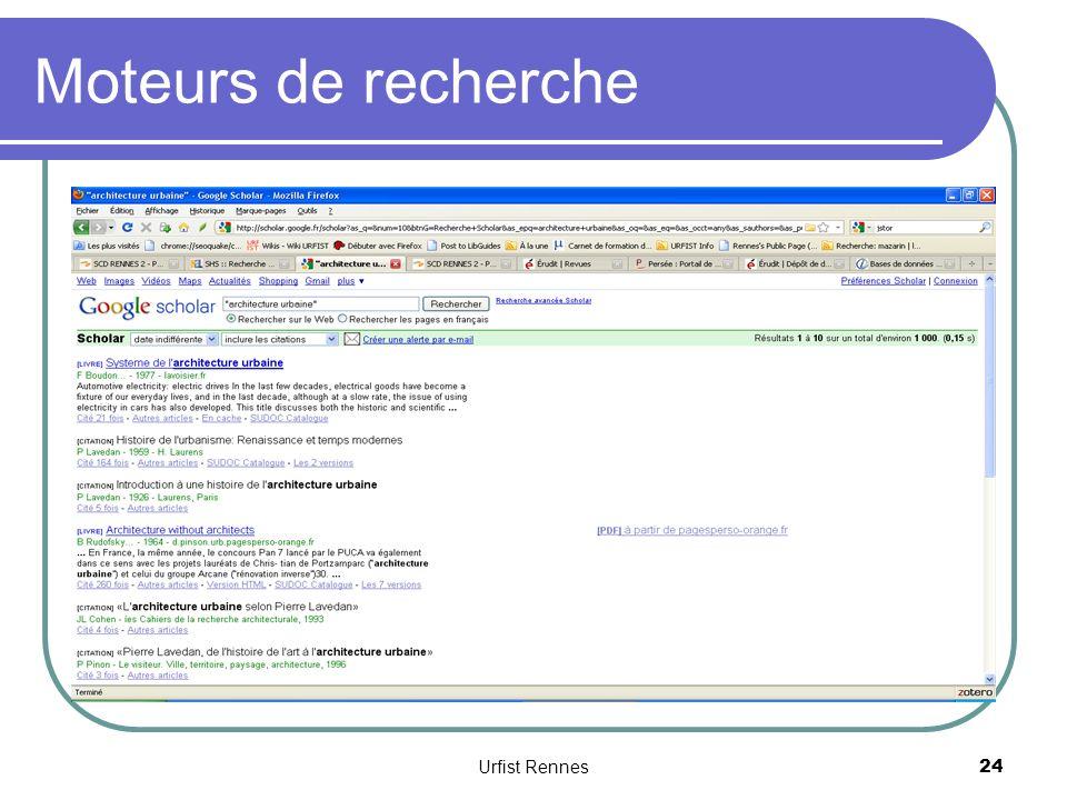 Moteurs de recherche 24 Urfist Rennes