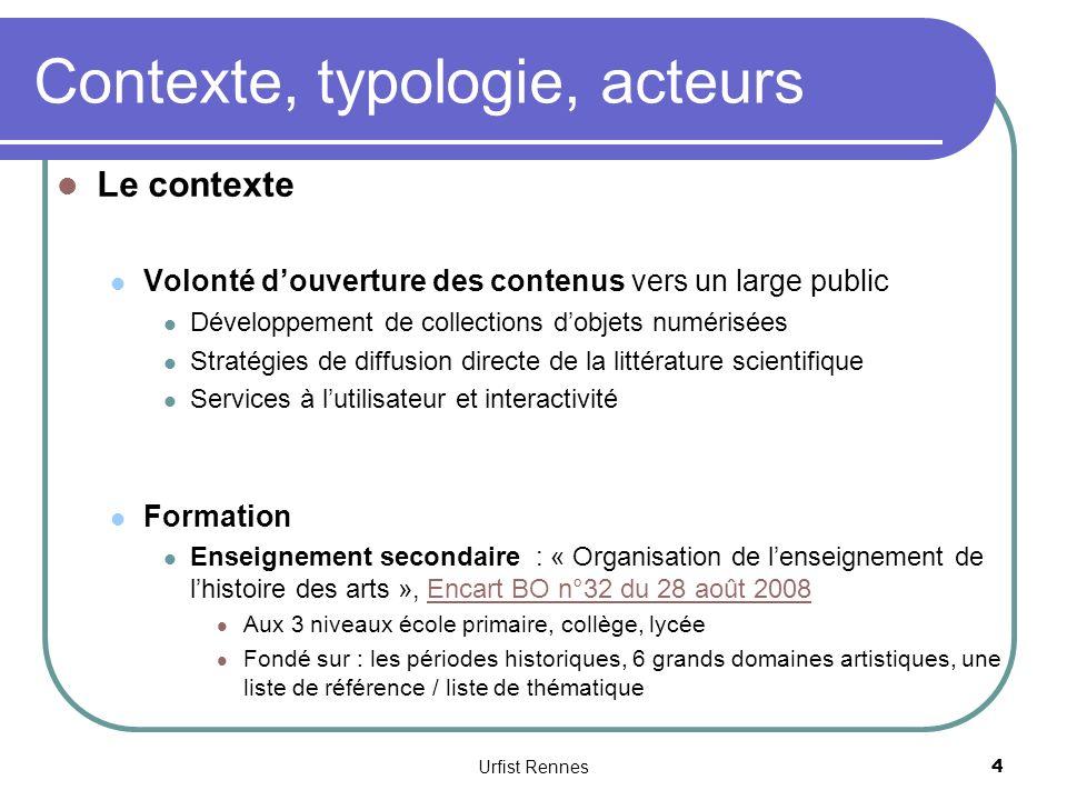Outils de référence Le Delarge, Dictionnaire des arts plastiques modernes et contemporains, http://www.ledelarge.fr/index.php http://www.ledelarge.fr/index.php European ARTNET, informations sur les artistes européens http://ean.dark-star.ch/eingang_besucher/index.cfm http://ean.dark-star.ch/eingang_besucher/index.cfm Urfist Rennes 55