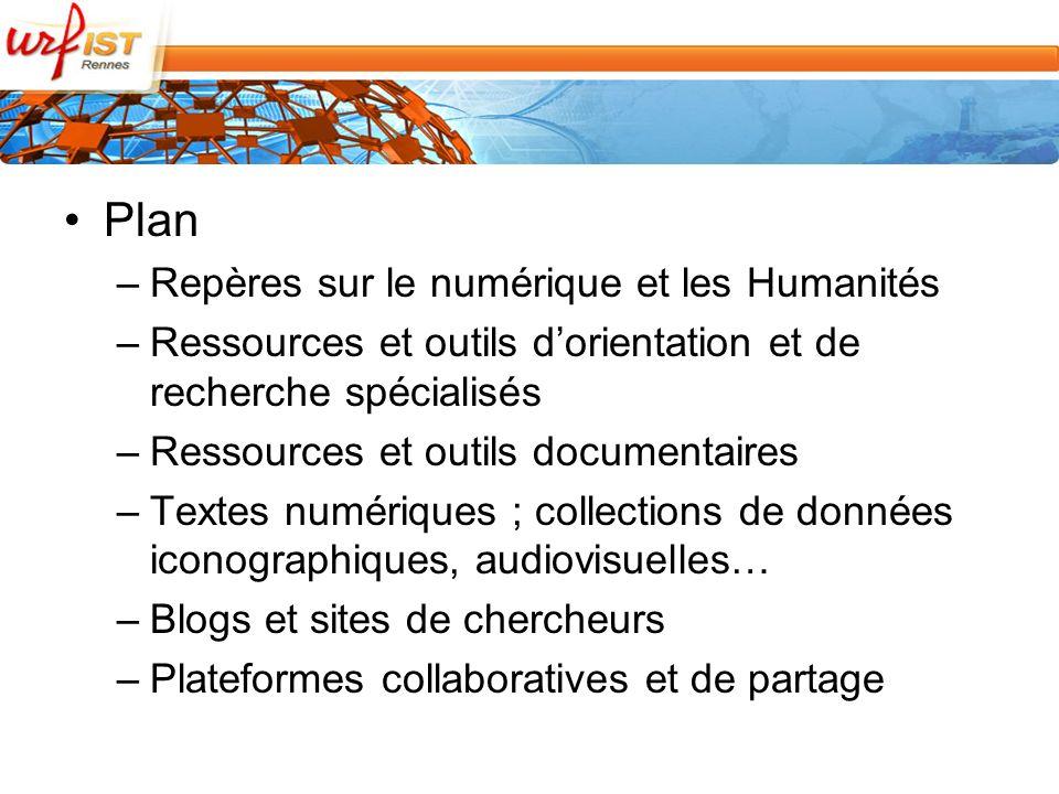 –Les bibliothèques numériques –EuroDocs : Primary Historical Documents from Western Europe http://eudocs.lib.byu.eduindex.php/Main_Page/ –Melissa, (Mettre En LIgne les Sciences Sociales Aujourd hui) http://www.melissa.ens-cachan.fr/ –Open Library http://openlibrary.org/ –Google Books http://books.google.fr/ –Hathi Trust http://www.hathitrust.org/ –Voir le billet dO.