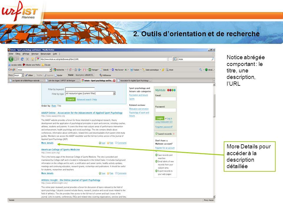 More Details pour accéder à la description détaillée Notice abrégée comportant : le titre, une description, lURL
