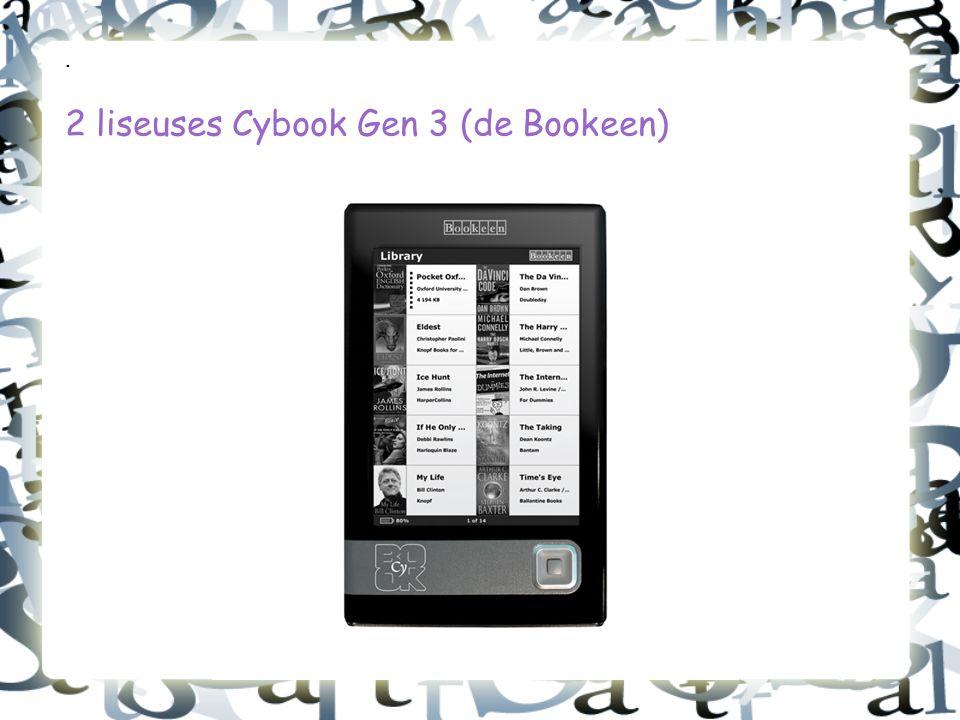 . 2 liseuses Cybook Gen 3 (de Bookeen)