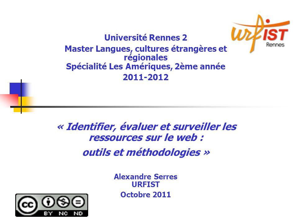 A.Serres, URFIST Rennes, 201172 5.