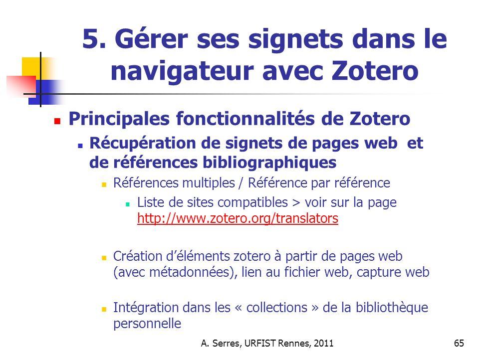 A. Serres, URFIST Rennes, 201165 5.
