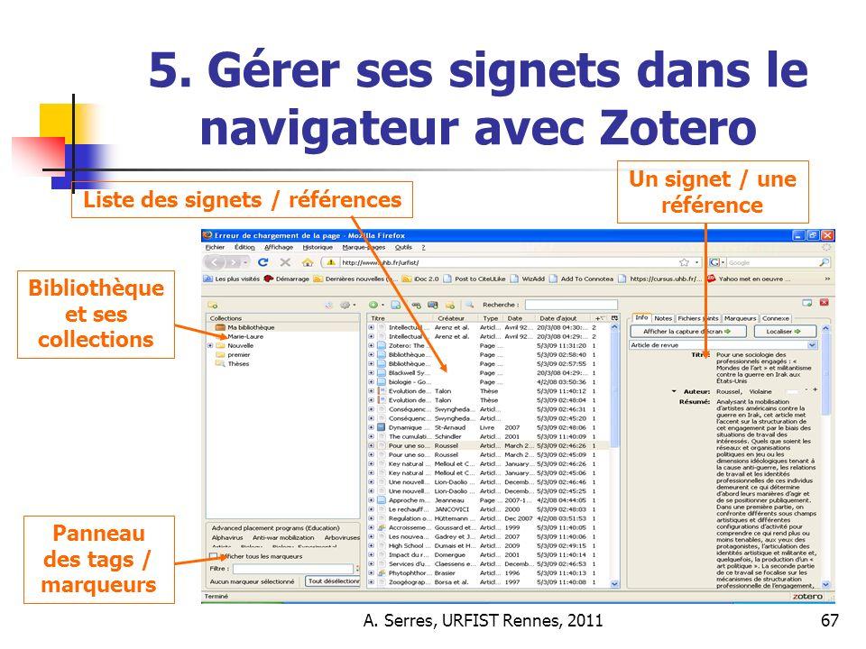 A. Serres, URFIST Rennes, 201167 5.