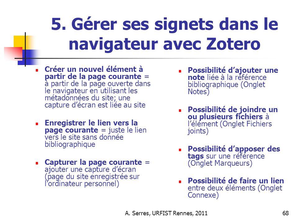 A. Serres, URFIST Rennes, 201168 5.