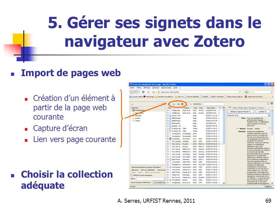 A. Serres, URFIST Rennes, 201169 5.