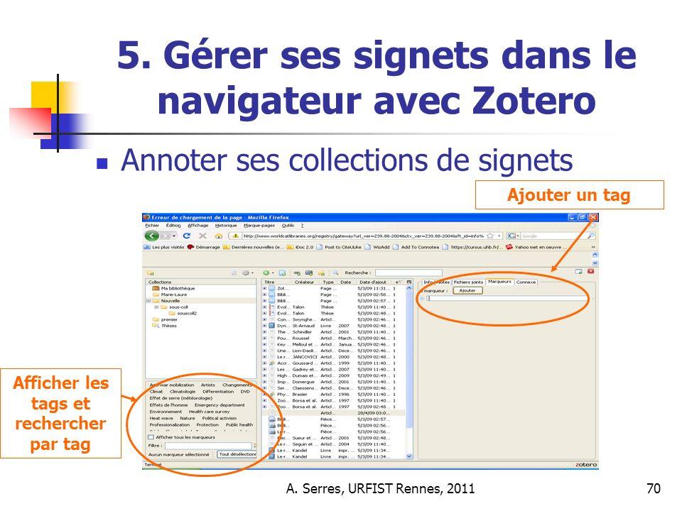 A. Serres, URFIST Rennes, 201170 5.