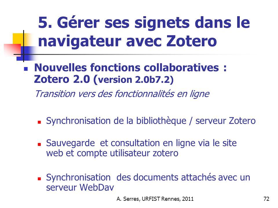 A. Serres, URFIST Rennes, 201172 5.