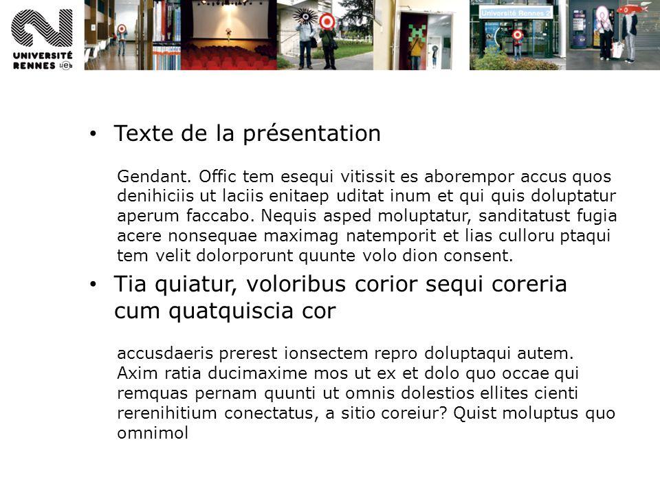Texte de la présentation Gendant.