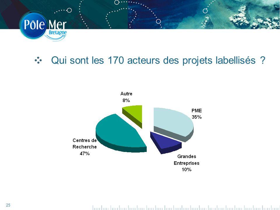 25 Qui sont les 170 acteurs des projets labellisés ?