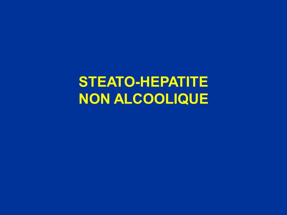 Stéato-hépatite alcoolique Hépatopathie médicamenteuse ou toxique Hépatite chronique C Hépatites chroniques B et D Hémochromatose Hépatopathie auto-immune Autres hépatopathies chroniques : Wilson, déficit en -antitrypsine… Diagnostic différentiel
