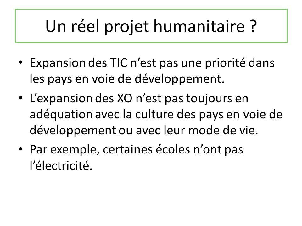 Un réel projet humanitaire .