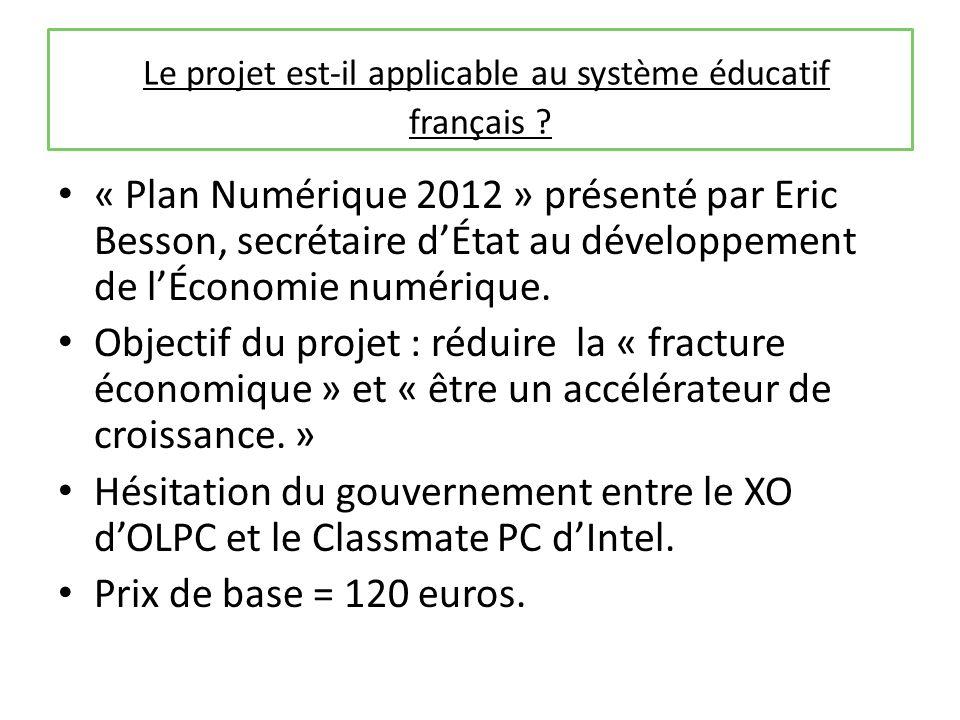 Le projet est-il applicable au système éducatif français .