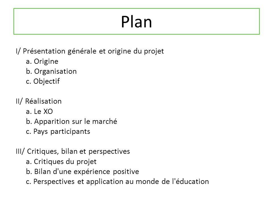 Plan I/ Présentation générale et origine du projet a.