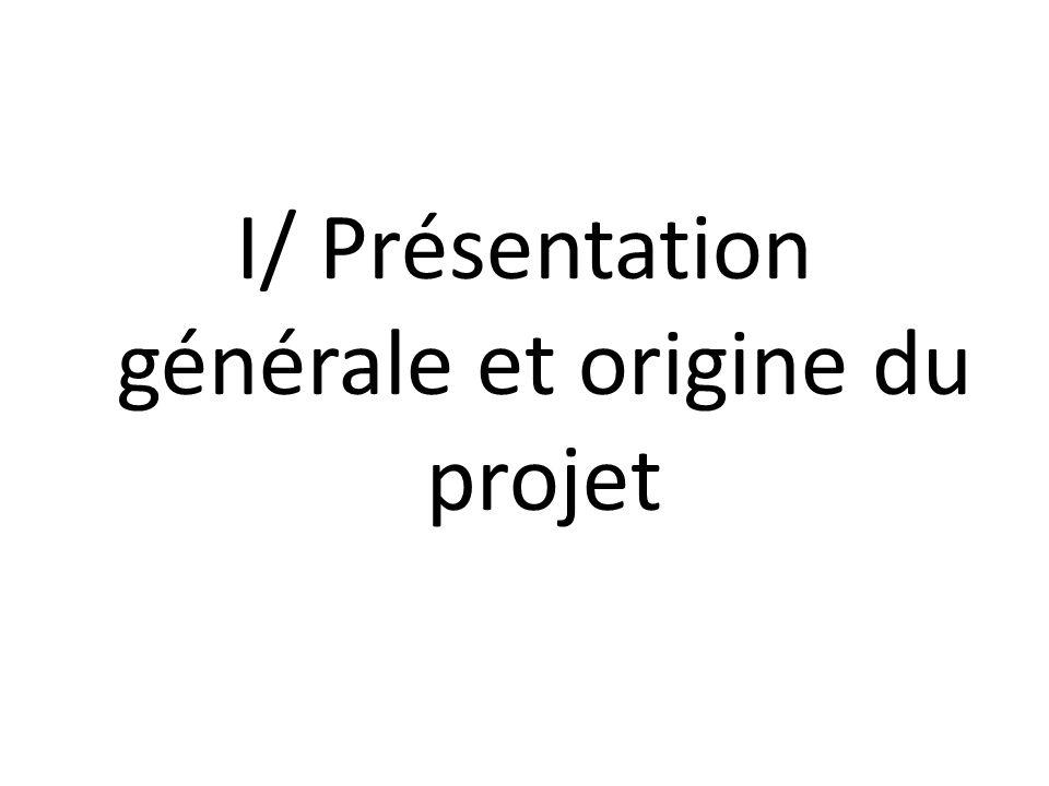 I/ Présentation générale et origine du projet