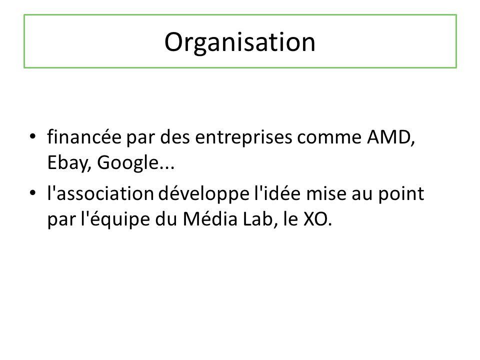 Organisation financée par des entreprises comme AMD, Ebay, Google...