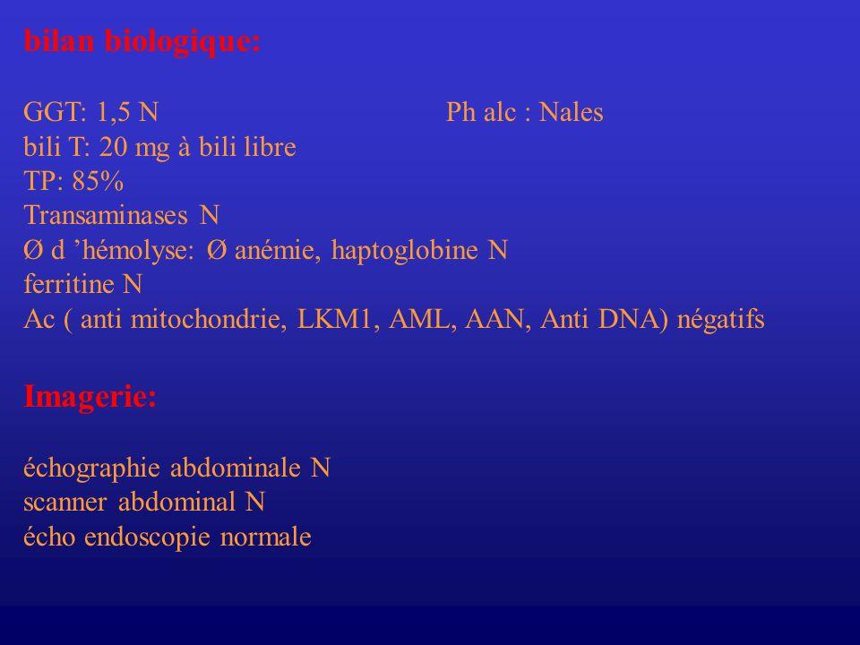 Diagnostic - de maladie de GILBERT (trouble de la glycuroconjugaison) - associée à une cholestase au paracétamol.