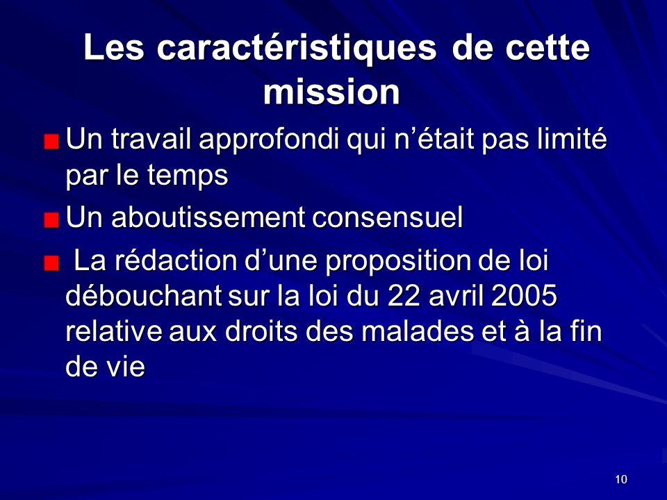 10 Les caractéristiques de cette mission Les caractéristiques de cette mission Un travail approfondi qui nétait pas limité par le temps Un aboutisseme