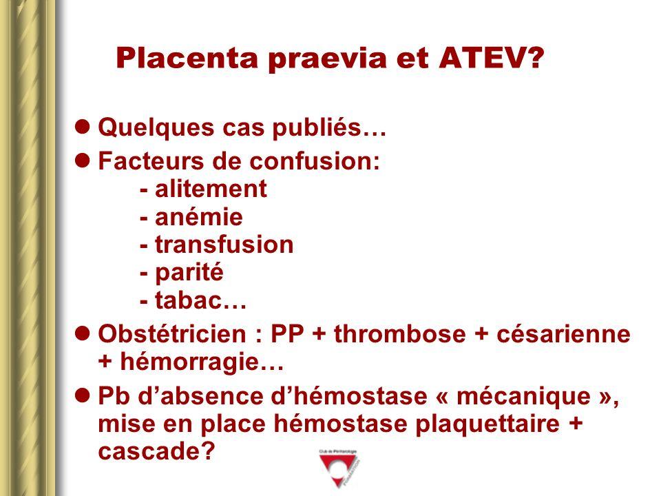 Placenta praevia et ATEV.