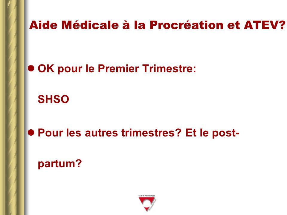 Aide Médicale à la Procréation et ATEV.