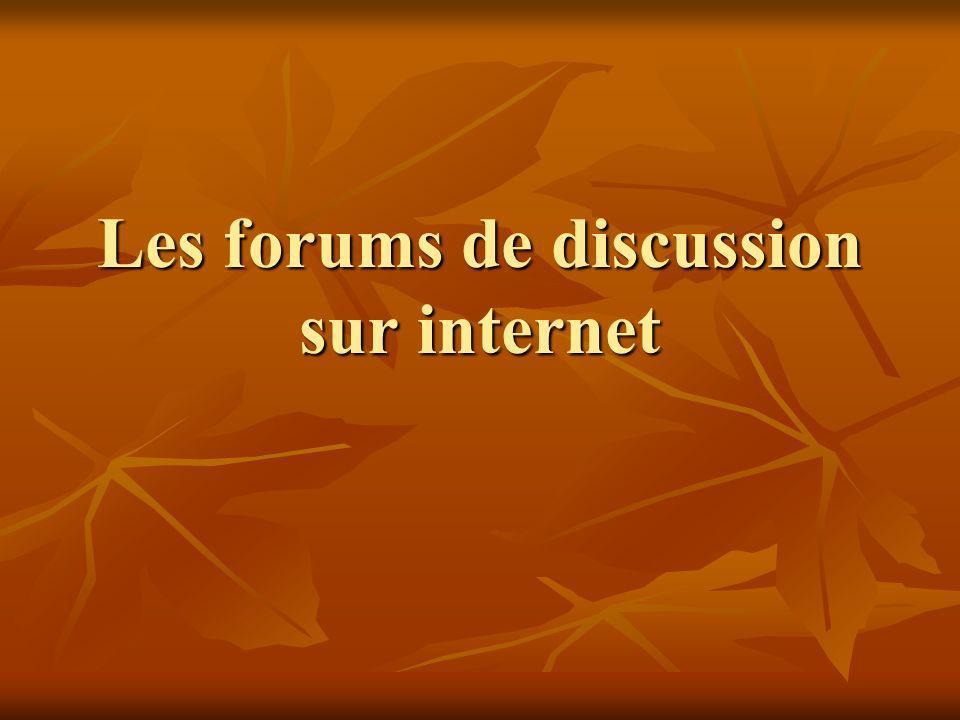 Partie 2 : A quoi peuvent servir les forums dans le domaine des sciences de léducation.