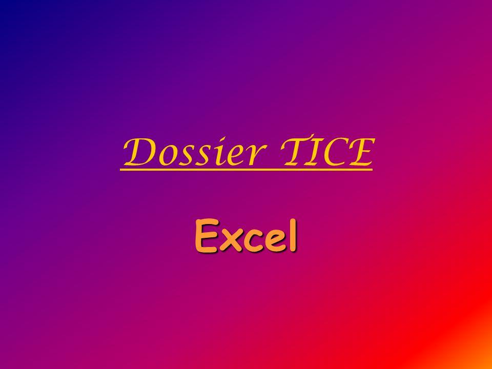 Dossier TICE Excel