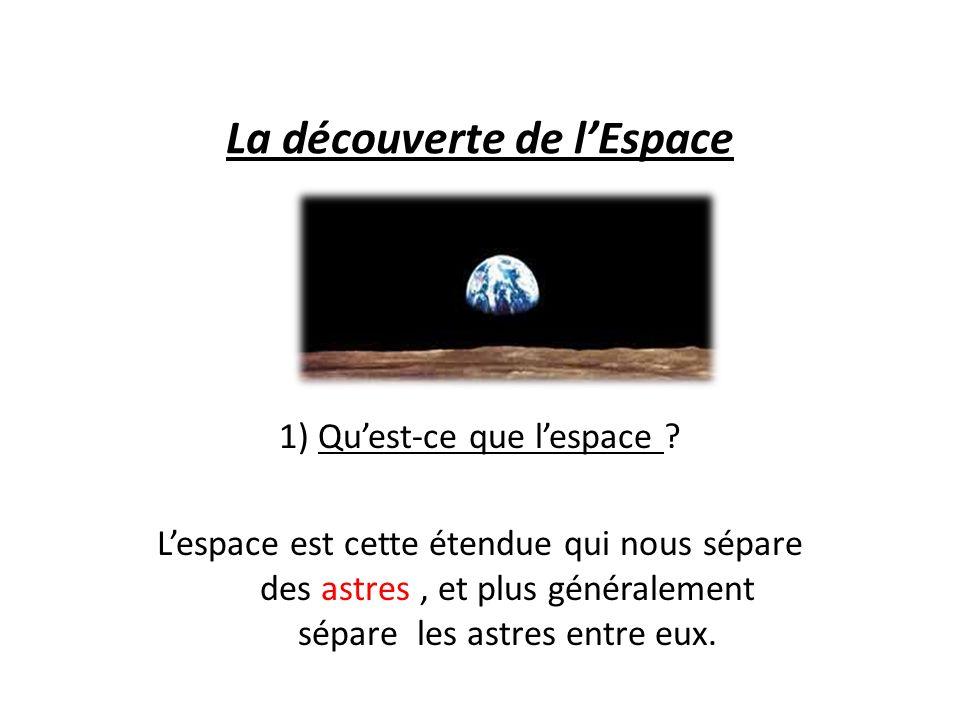 La découverte de lEspace 1) Quest-ce que lespace .