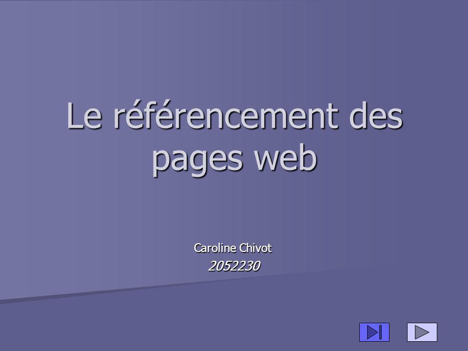 Le référencement des pages web Caroline Chivot 2052230