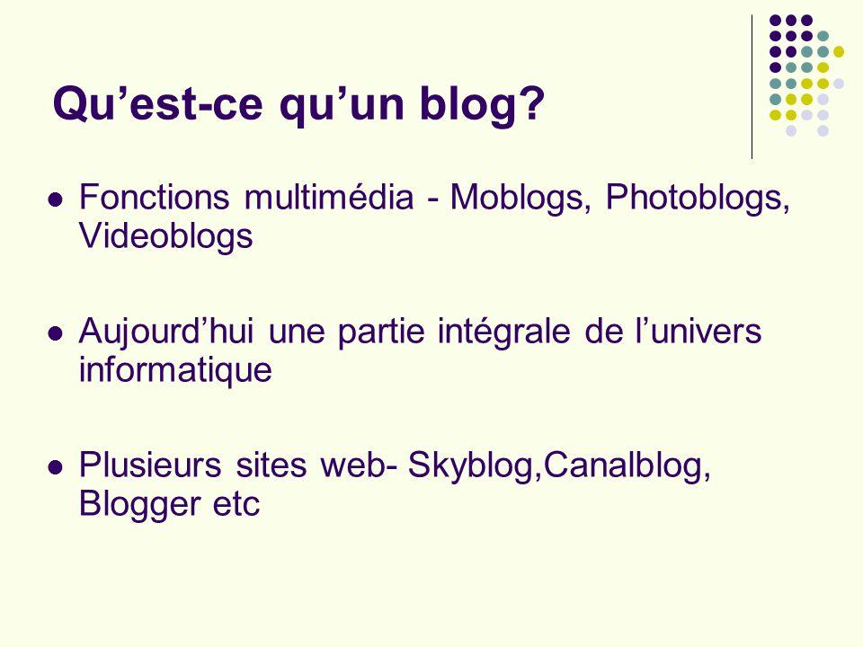 Quest-ce quun blog.