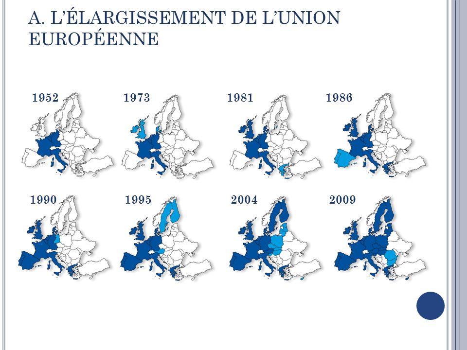 Le processus de lélargissement 1989 LEurope centrale et orientale avec lUnion Européenne a été soutenue par de nombreux programmes daide et dassistance financière pour leurs reconstructions.