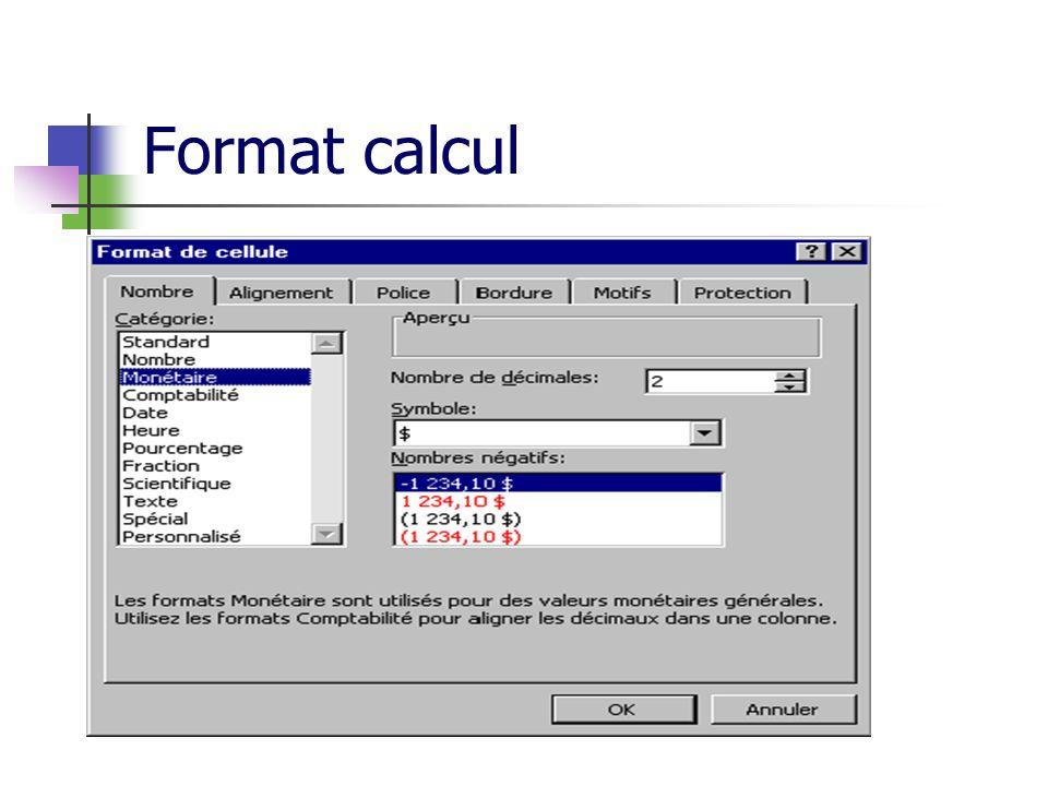 Format calcul
