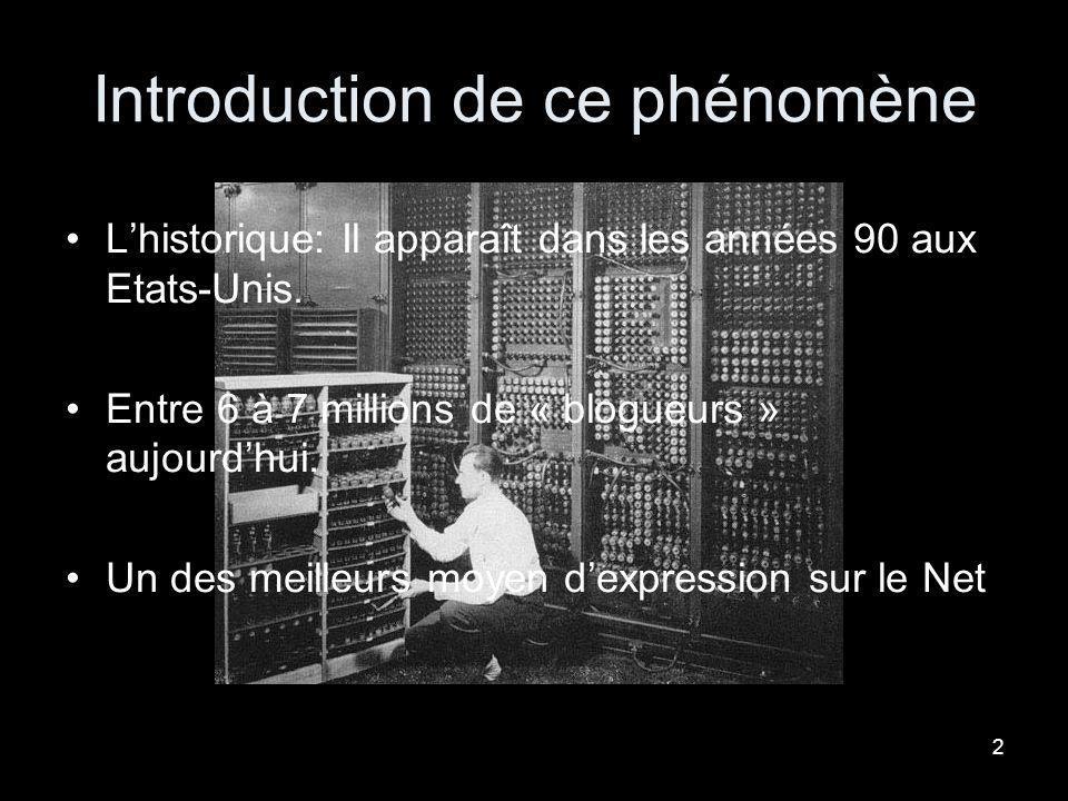 1 Bensadoun LeïlaN°2051513 …Les Blogs… …un véritable phénomène informatique.