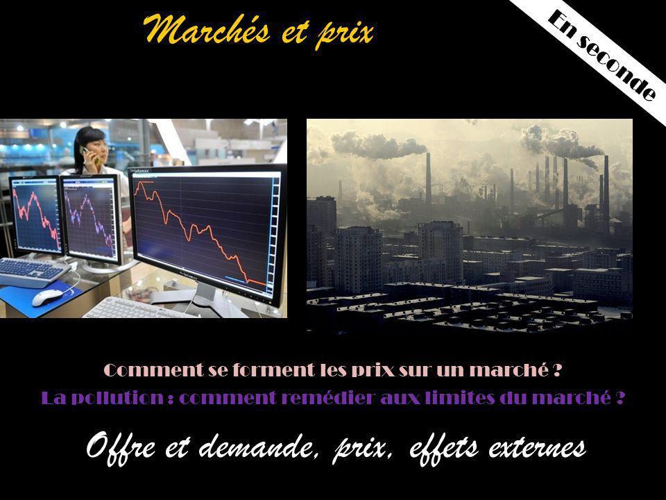 Marchés et prix Offre et demande, prix, effets externes / Comment se forment les prix sur un marché .