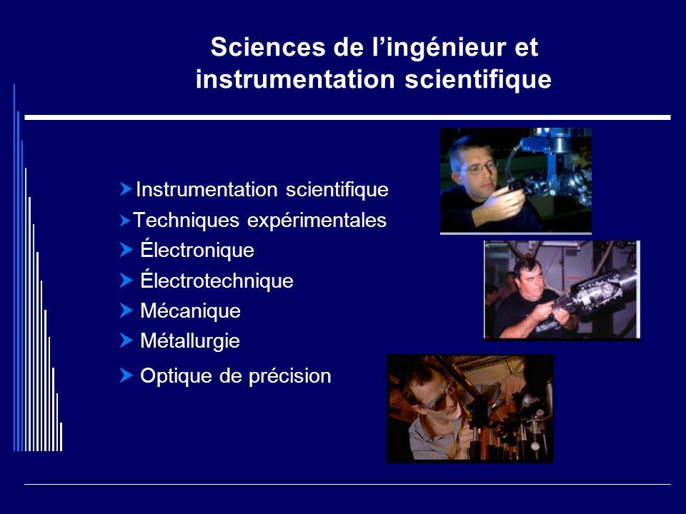 Sciences de lingénieur et instrumentation scientifique Instrumentation scientifique Techniques expérimentales Électronique Électrotechnique Mécanique